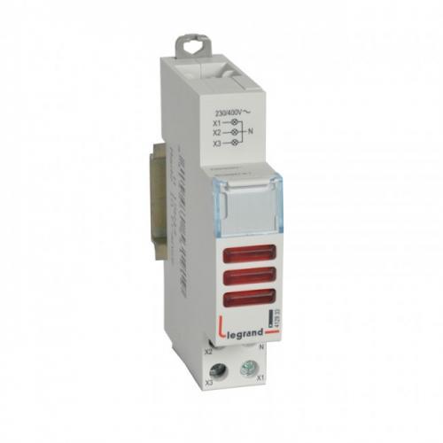 LEGRAND - ДИН Индикатор за три фази червен 220/400V 412933