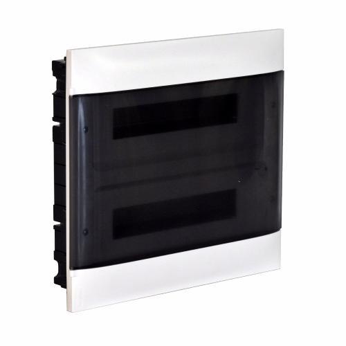LEGRAND - Табло за скрит монтаж 2х12 мод. Practibox S с прозрачна врата и Н и РЕ клеми 135152