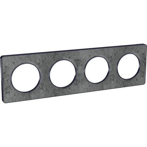 SCHNEIDER ELECTRIC - S540808U Odace Touch aluminium декоративна рамка четворна морски камък с външен кант в цвят антрацит