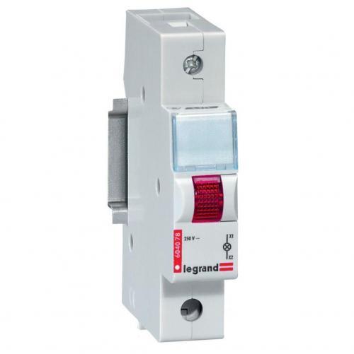 LEGRAND - 604078 ДИН Индикатор червен NEW 220V