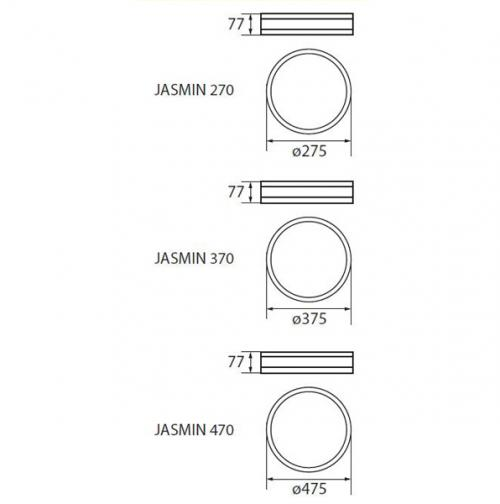 KANLUX - Плафон JASMIN 370-W (23124)
