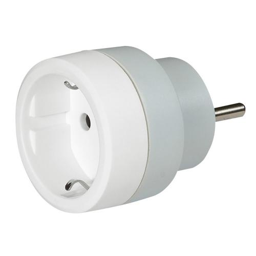 LEGRAND - 0 503 82 German to French standard adaptor - 2P+E - 16 A - with safety shutters - white