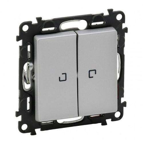 LEGRAND - Сериен ключ с подсветка LED Valena Life 752328 алуминий