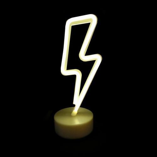ACA LIGHTING - FFLASHNEON2A  LED ДЕКОРАТИВНА ЛАМПА  5.4W, с USB, батерии, топла бяла светлина, вътрешно приложение IP20