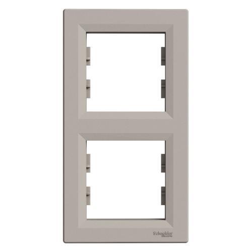 SCHNEIDER ELECTRIC - EPH5810269 Вертикална Рамка Двойна Asfora Бронз