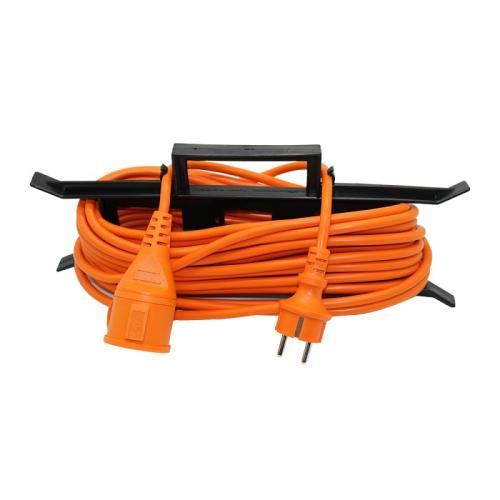 V-TAC - 15м Удължител Влагозащитен 16А Оранжев EU Стандарт IP44 SKU: 8816 VT-3002-15