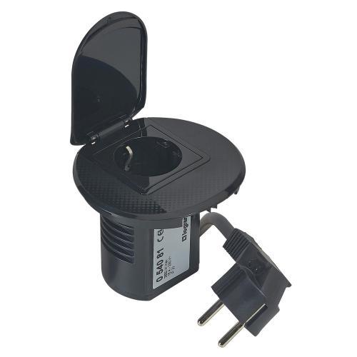 LEGRAND - 054081 Модул за бюро черно 1х 2P контакт + кабел