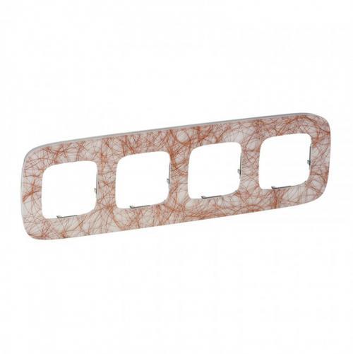 LEGRAND - Четворна рамка ALLURE 754494 метални нишки