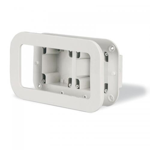 SCAME - Двойна конзола за вграждане в стена + декоративна рамка 137.122
