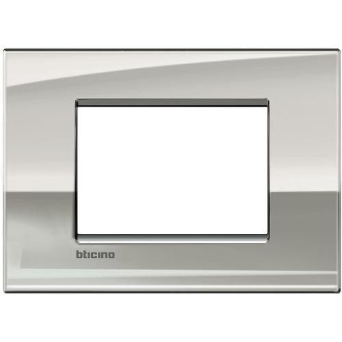 BTICINO - LNC4803PL Рамка 3М Palladium метална Livinglight AIR