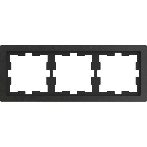 SCHNEIDER ELECTRIC - MTN4030-654 рамка тройна полиран камък D-Life glass Merten