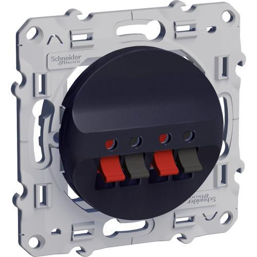 SCHNEIDER ELECTRIC - S540488 Двойна розетка за високоговорител Odace антрацит