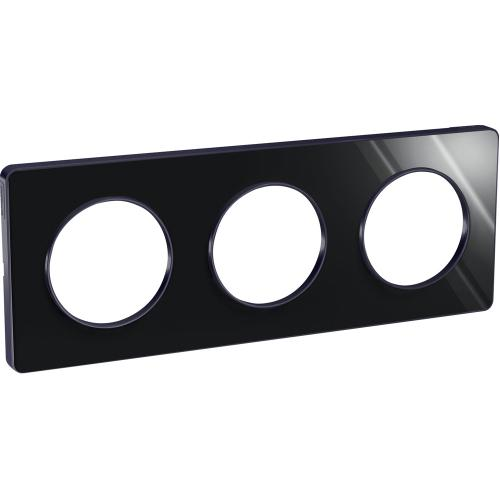 SCHNEIDER ELECTRIC - S540806K1 Odace Touch aluminium декоративна рамка тройна опушено огледало