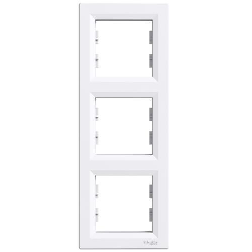 SCHNEIDER ELECTRIC - EPH5810321 Декоративна рамка вертикална тройна Asfora бяла