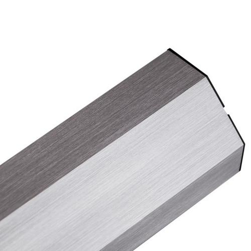 BACHMANN - Контакт 4х220V шуко за ъглов монтаж алуминиев комплект с 2м. кабел Casia 923.006
