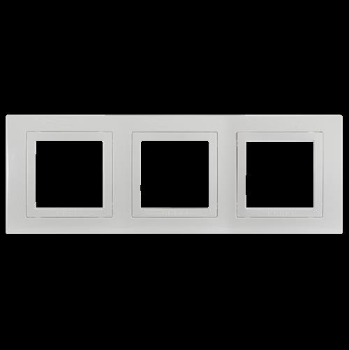 SCHNEIDER ELECTRIC - MGU2.006.18 декоративна рамка Unica Basic тройна бял