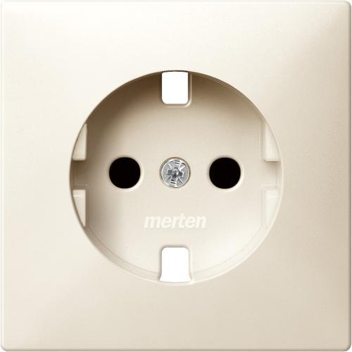 SCHNEIDER ELECTRIC - MTN2330-4044  Лицев панел за контакт шуко със защита крема Artec и Antique
