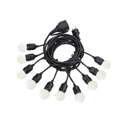 IDEAL LUX - Кабел с поредица фасунги  FIESTA SP10 NERO 246796