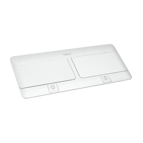 LEGRAND - 654004 Подова кутия 2x4 модула полирано бяло (Glossy white ) с включен монтажен кит