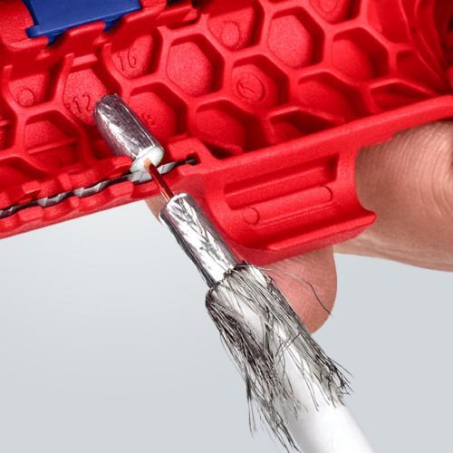 KNIPEX - ErgoStrip® Универсален инструмент за оголване на кабели 16 95 01 SB