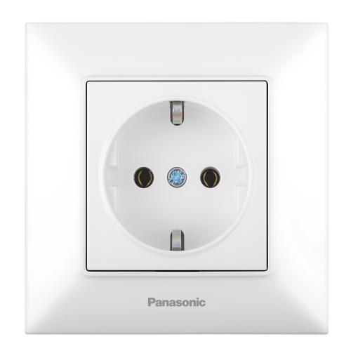PANASONIC - Контакт шуко Panasonic Arkedia Slim бял WNTC0202-2WH