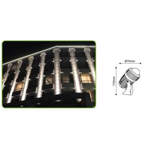 ACA LIGHTING - LED фасаден прожектор светлинен лъч 10W 3000K 8° 500lm BFOCUS1030