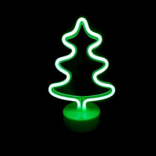 ACA LIGHTING - XTREENEON2A  LED ДЕКОРАТИВНА ЛАМПА  5.4W, с USB, батерии, зелена светлина, вътрешно приложение IP20