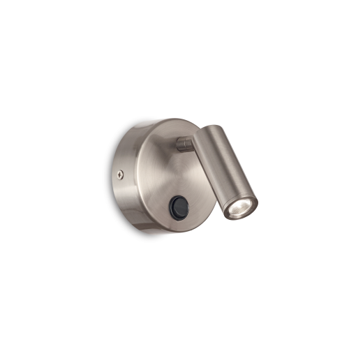 IDEAL LUX - Аплик  PAGE AP1 ROUND Nickel  233673