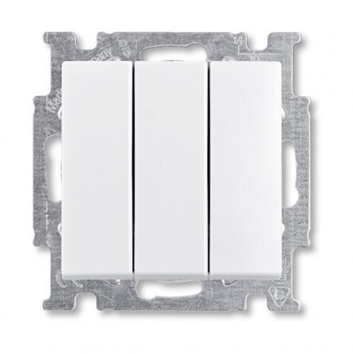 ABB - Ключ троен ABB Basic55 Бяло 1012-0-2155