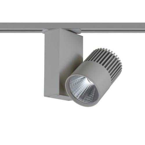 ACA LIGHTING - Релсов прожектор LED 15W 3000K за монофазна шина сив BIENAL1530G2