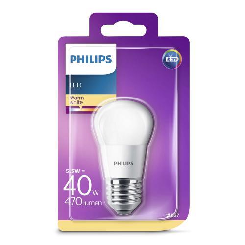 PHILIPS - LED светодиодна лампа 5.5W P45 E27 WW FR ND RF 1BC