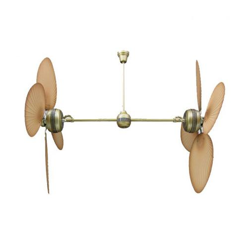 ACA LIGHTING - Таванен вентилатор 4TS52HAB американски тип IP44
