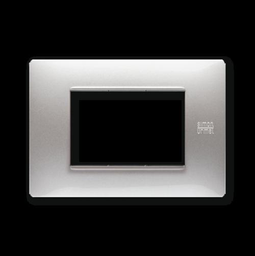 SIMON URMET - 11803.AL Aluminium Technopolymer Flexa тримодулна рамка