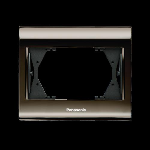 PANASONIC - Рамка за двоен контакт Thea Blue Черен хром WBTF0809-5UN