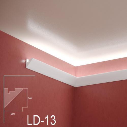 ADORN - Декоративен корниз за индиректно-осветление LD-13-2m 60х60 мм