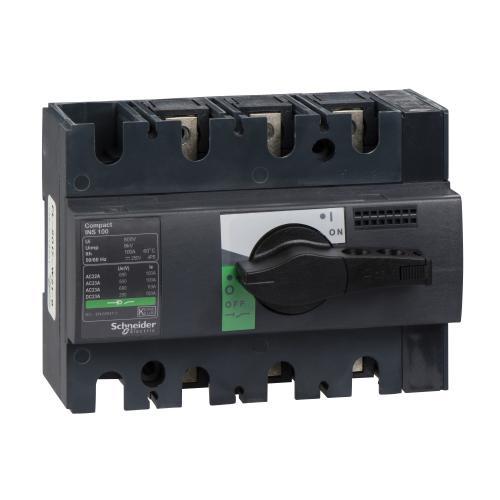 SCHNEIDER ELECTRIC - Товаров прекъсвач INS160 3P 160A с ръкохватка ComPact 28912