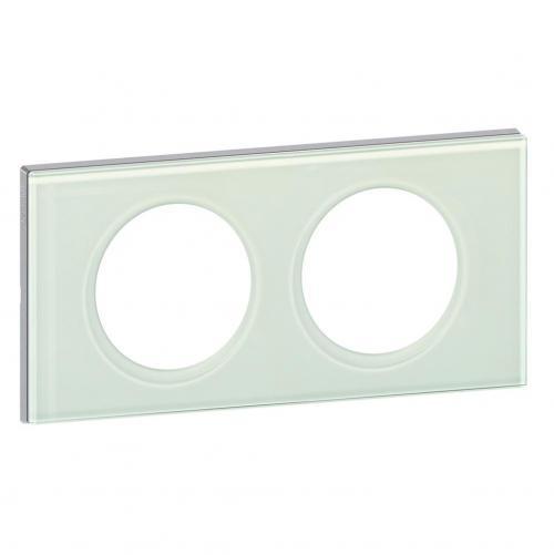 LEGRAND - Двойна рамка Celiane 69312 каолиново стъкло
