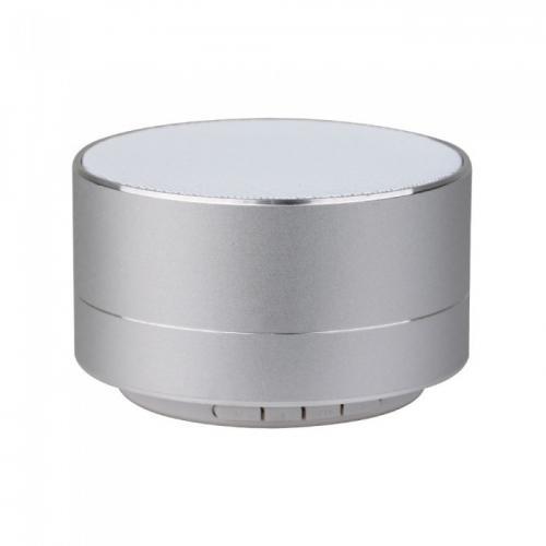 V-TAC -  Bluetooth Колона Метална + TF Слот 400mah Сребро SKU: 7713 VT-6133
