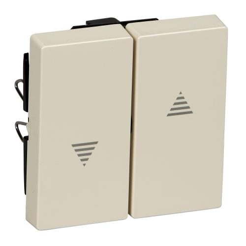 SCHNEIDER ELECTRIC - MTN432444 Лицев панел за ключ/бутон за щори крема System M