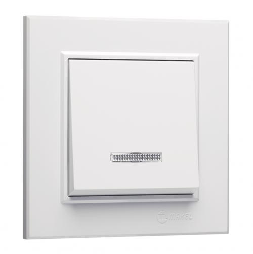 MAKEL - Ключ единичен сх.1 със светлинен индикатор Karea 56001021