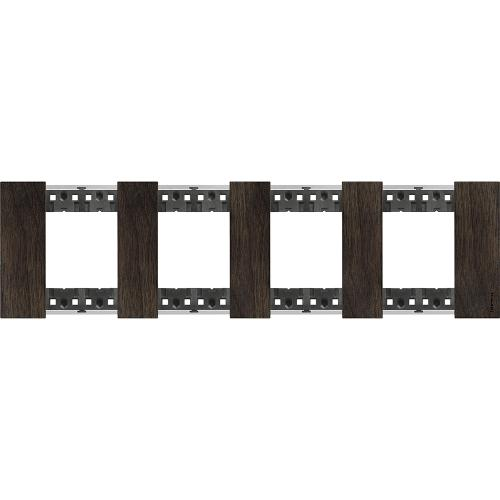 BTICINO - Рамка 4x2 мод. немски стандарт цвят Орех Living Now Bticino KA4802M4LG