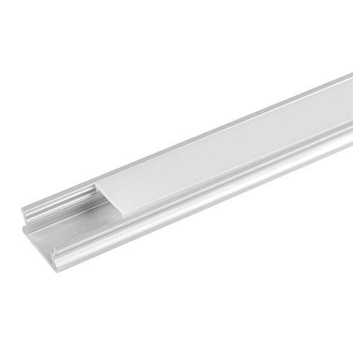 ULTRALUX - APN307 Алуминиев профил за LED лента, плитък, 3м