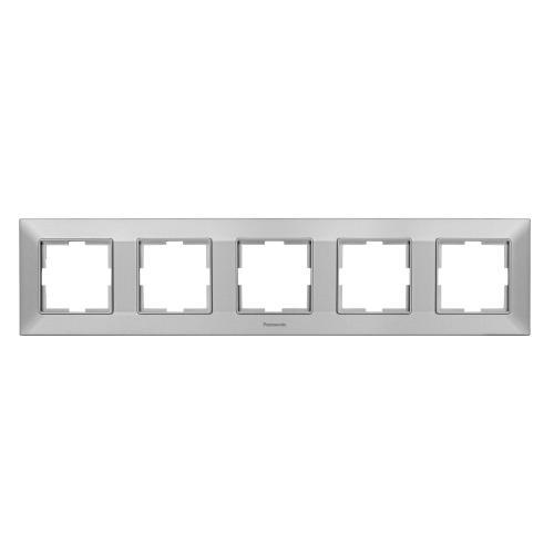 PANASONIC - Рамка петорна хоризонтална сиво PANASONIC Arkedia slim WNTF0805-2SL