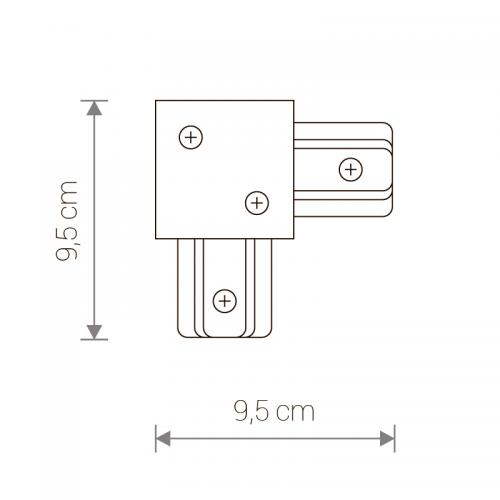 NOWODVORSKI - L-конектор  PROFILE RECESSED L-CONNECTOR WHITE 8970
