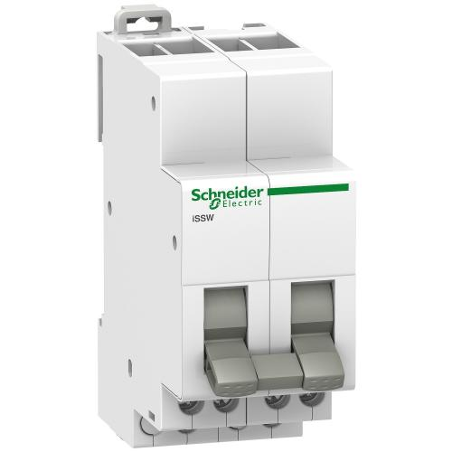 SCHNEIDER ELECTRIC - Ум шалтер Acti 9 iSSW I-0-II 2P 20A 2CO 250Vac 2 мод. A9E18074