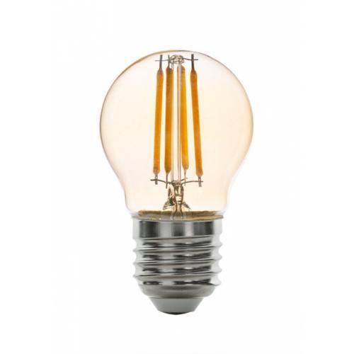 ULTRALUX - LFG42725D LED dimmable filament globe 4W, E27, 2500K, 220V AC, amber