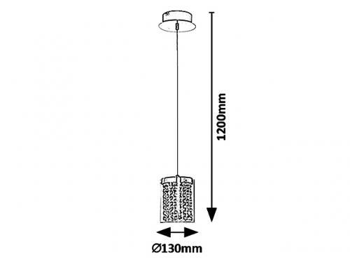 RABALUX - ПЕНДЕЛ 5043 ASTRELLA  LED 6W, 450lm, 4000K