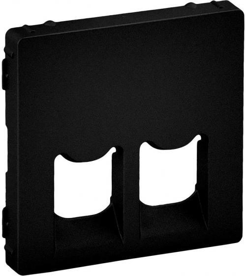 LEGRAND - Лицев панел за двойна 2xRJ45/RJ11 розетка цвят Черен Valena Life 756422