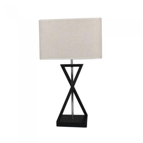 V-TAC - Настолна Лампа E27 Черна, Слонова Кост Ключ Квадратна SKU: 40381 VT-7712