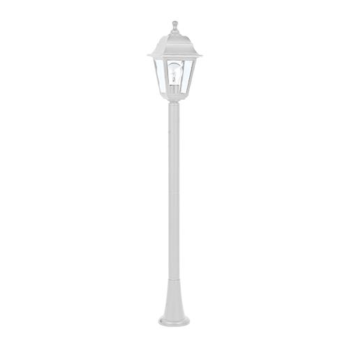 ACA LIGHTING - Градински фенер стоящ бял 105см влагозащитен IP44 PLGP5W